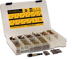 """Cabinet/Finish """"Star Drive"""" Wood Screw Assortment Kit"""